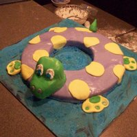 Pool Party! Pool Float cake for a pool party!