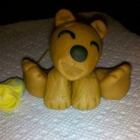 Teddy Bear I made him out of fondant. It's my first attempt, but I think he turned out adorable. I love the happy expression on his face and his...