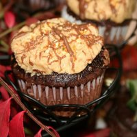 Yummy Cupcakes Peanut buttercream filled chocolate cupcake