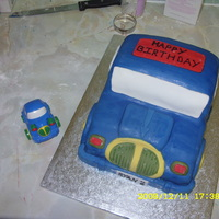 2Nd Birthday Car Cake 2nd birthday cake and the toy car i modelled it on.