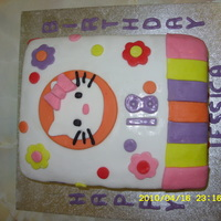 18Th Birthday Cake This is an 18th birthday cake i made for my sister. Again it is all fondant. Please comment.