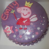 Peppa Pig Cake This is for a friends little girl. I paniced making this cake that it wouldnt look like peppa but i think it has gone well. Please comment...