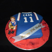 Glasgow Rangers Strip Cake