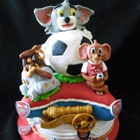Tom And Jerry Arsenal Cake