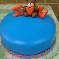 Teddy Bear I Love You Cake