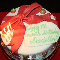 Christmas Themed Bday Cake