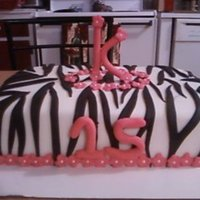 Zebra Sheet Cake Zebra print sheet cake with hot pink fondant flowers and gumpaste decorations. This was a last minute cake that I made for my friend's...