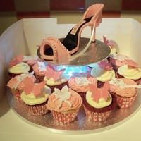 Fondant Shoe And Fairy Cupcakes. Fondant shoe and fairy & butterfly cupcakes.