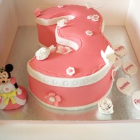 Number 3 Minnie Cake Number 3 Minnie Mouse Cake