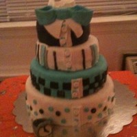 Men's Shirt Cake 1st multiple tiered cake