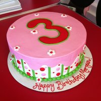 Strawberry Shortcake Birthday   Strawberry Shortcake themed, all buttercream