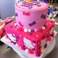 Hello Kitty And Bows All buttercream