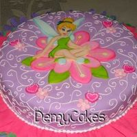 Tinkerbell Cakes Here in Venezuela, characters cakes are very popular, children parties are always themathics.