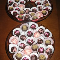 Valentine's Cake Balls I made these cake balls for my friends and family for Valentine's Day. The ones with sprinkles on top are Nutella, the ones with pink...