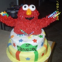 Elmo Cake Just finished this cake for my nephews 1st birthday.....