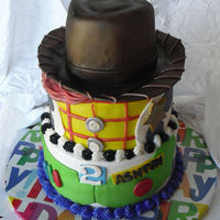 Toy Story   Woody hat cake for my son's birthday. Far from my best work, but I figured I'd post it anyway.