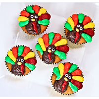 Gobble Gobble Turkey Cupcakes At home with a sick kiddo, I decided to do something that involved our favorite indulgence: cupcakes! Butterscotch Cupcakes + Buttercream...