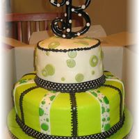 Green Contemporary actually this was a baby shower cake, but I put it under birthday cakes because I think it looks more like a bday cake. fondant B...