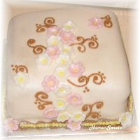 Just A Sample Cake bride wanted to taste fondant...so I just made up a little square cake :)