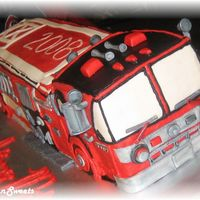 Fire Truck served 100+ for fireman grad....first firetruck cake.