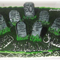 Graveyard cookie tombstones