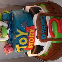 Toystory 3 Layer Cake This was a toystory birthday cake 3 layer for a 3 y/o.I also made a small toystory cake only for the birthday boy.