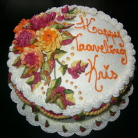 Mums   I love making fall cakes with buttercream