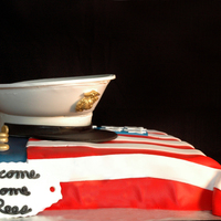 Welcome Home Cake I had the privilege of making a welcome home cake for a solider (Rees) that just returned home from Afghanistan for memorial day from...