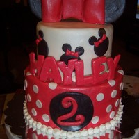 Minnie Mouse Cake Here is another Minnie Mouse cake!! It's for a friend's daughter, who was turning 2 and LOVES all things Minnie Mouse! I've...