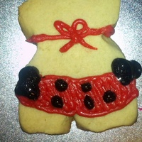 Hot Stuff Cookie-Girl In Bikini Shortbread cookie