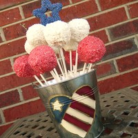 Patriotic Cake Pops I found the cutest picture of cake pops and decided to try my own. They turned out great! Made of strawberry cake with strawberry flavored...