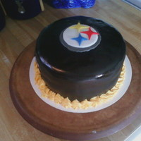 Steelers   made my own fondant and i gotta say it was delicious compared to store bought! easy to make and blacker than black