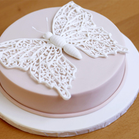 Royal Icing Butterfly Cake