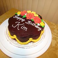 Happy Birthday Kim Chocolate Birthday Cake Cake Gallery On Cake