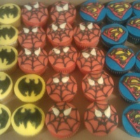 Superhero Cupcakes I made these cupcakes for a friend that had a team for Relay for Life. their theme was Superheros so I went with Batman. Spiderman and...