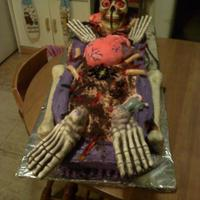 Coffin Cake coffin cake, everything was edible except the head, hands and feet.