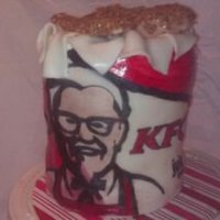 Kfc Bucket This cake was made for an Anniversary they met at kfc ...