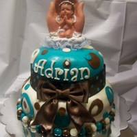 This Cake Was Made For A Baby's Blessing The mom didn't cut the cake ...
