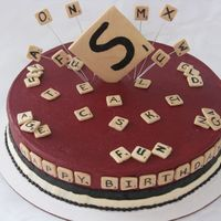 Scrabble   The customer sent me a picture of the cake she wanted to me to get inspiration from.