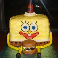 Sponge Bob sponge bob cake , thank for the help CC