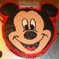 Mickey Mouse Cake I got all my ideas from right here on CC! I used a 9 in cake pan used for the face and 4 inch cake pan used or the ears. Everything is...
