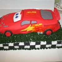 Lightining Mcqueen hardest cake I have ever done, but love it.