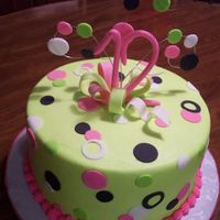 Lime Green & Polka Dots Requested colors of lime green, hot pink, white & black polka dots.