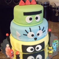 Yo Gabbagabba Birthday Cake I did this cake for my son's 3rd birtthay party. He's obsessed with this show and so I made thie whole party around it. This was...