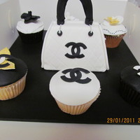 Chanel Cake & Cupcakes   Made these at a cake decorating class
