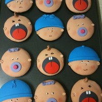 Baby Face Cupcakes I made these for my cousin after the deliver of her second baby.