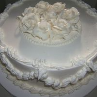 Wedding Vows Renewal This was made to celebrate several couples renewing their wedding vows. Iced and decorated with buttercream.