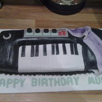 Keyboard Cake This cake was made for my friends mothers birthday - i didnt model this keyboard on any particular model i just went with my own image, but...