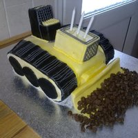 Bulldozer Cake This cake design was taken from an old Mary Ford book, this was really challenging in the fact that it was very structured, i found this...