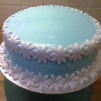 Blue Charity Cake This cake was made for a coffe/cake morning in work, with all donations made given to charity. It was a vanilla sponge, with buttercream/...
